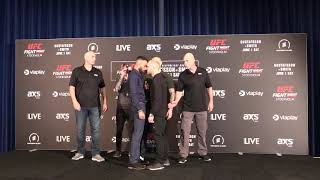 Makwan Amirkhani and Chris Fishgold Scuffle at Media Day