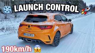 Am facut LAUNCH CONTROL pe zapada *MEGANE 4 RS TROPHY*