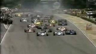 Formula 1 Grand Prix Start and Accident - Argentina 1979
