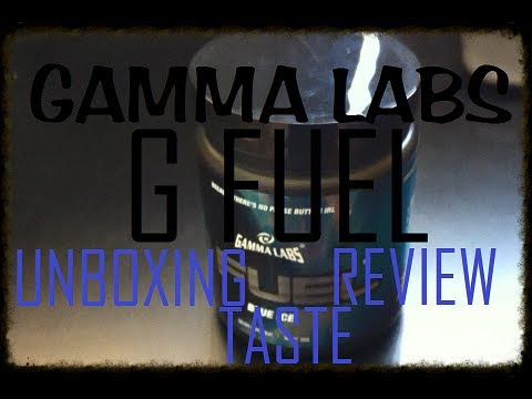 Gamma Labs G Fuel ( Blue Ice ) Unboxing, Tasting, Review - YouTube