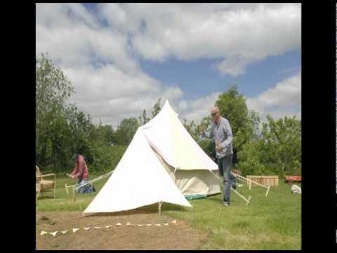 Bell tent time lapse film & Bell tent time lapse film - YouTube