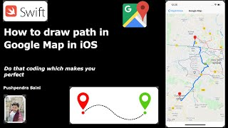 How to draw route with google map in iOS | Swift