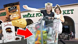 Kids WHOLE FOODS Grocery Shopping CHALLENGE!