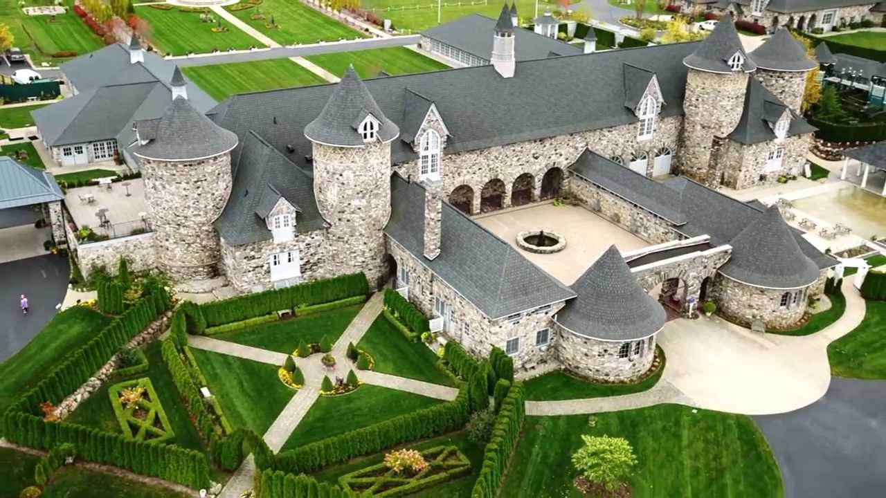 Castle Farms Aerial Video Virtual Tour Charlevoix Michigan Youtube