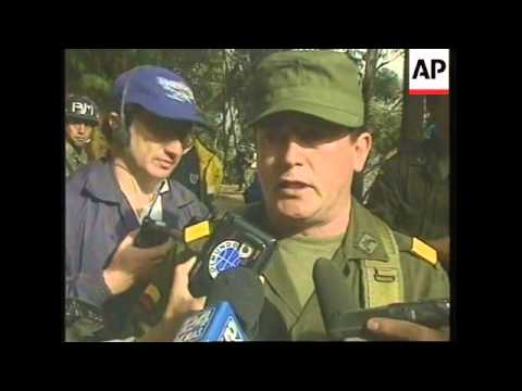 COLOMBIA: BOGOTA: RESCUERS RETRIEVE WRECKAGE FROM CRASHED JET