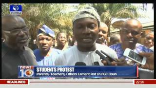 Students Protest: Parents, Teachers, Others Lament Rot In FGC Osun 16/11/15