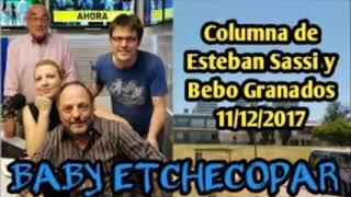 BABY ETCHECOPAR - ENOJO POR RESPUESTA DE LLAMADA A PRO.FE. Y COLUMNA 11/12/2017