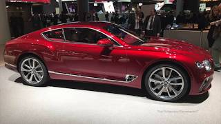 2018 NEW Red Bentley Continental GT World Premiere