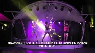セブ島にあるMovenpickホテル内のIBIZE BEACH CLUBで行われたライブ映像...