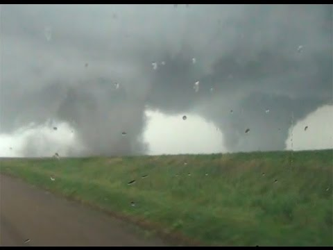 INSANE Nebraska Twin Tornadoes!  Pilger, Nebraska 6/16/14