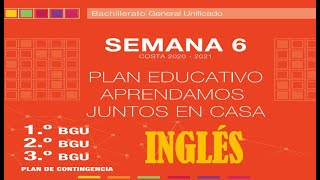 Semana 6,✔✔ Inglés, Bachillerato✔✔