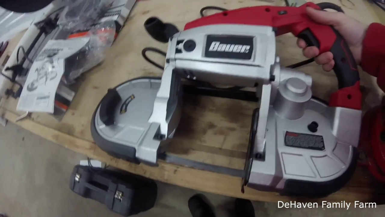 Harbor Freight portable Band Saw- Does it work??? by DeHaven Family Farm