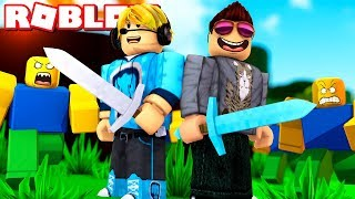 Huge WAR with FANS! -ROBLOX 2 Player YouTuber Tycoon English with ComKean