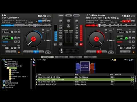 PSY gentleman remix virtual dj!!