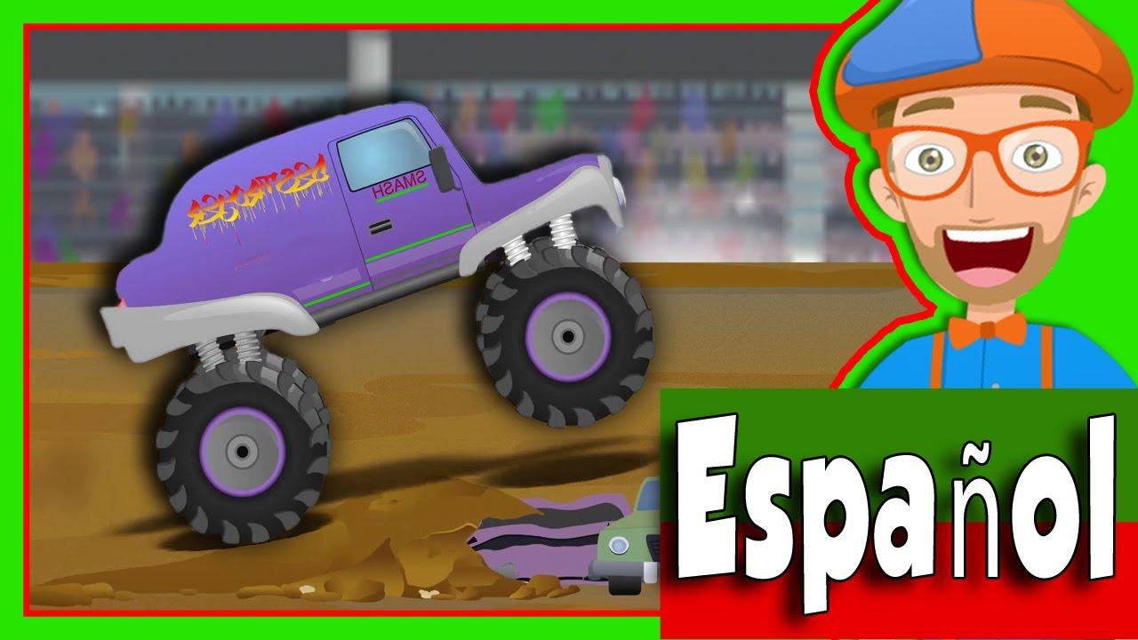 Camiones Monstruo para Niños con Blippi Español | Canción de los ...