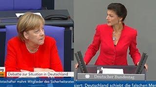 Сара Вагенкнехт жёстко раскритиковала  Меркель в Бундестаге [Голос Германии]