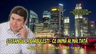 Stefan De La Barbulesti - Ce inima ai mai tata (Muzica de ascultare) Live