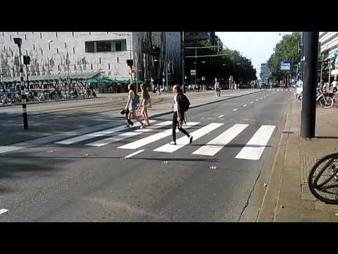 Intelligent pedestrian crossing in Rotterdam, Holland