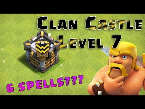 CLASH OF CLANS | CLAN CASTLE LEVEL 7 | ATTACK USING 6 SPELLS |
