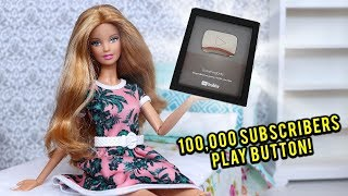 EverythingDolls Silver Play Button PLUS Huge Barbie Doll Giveaway