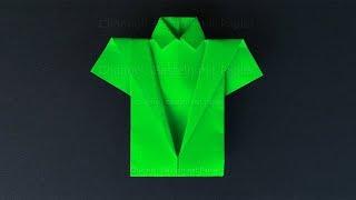 Origami Hemd basteln mit Papier - Origami für Kinder und Anfänger - Basteln Ideen