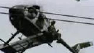 Ремонт ЛЭП под напряжениме с вертолёта(Из передачи