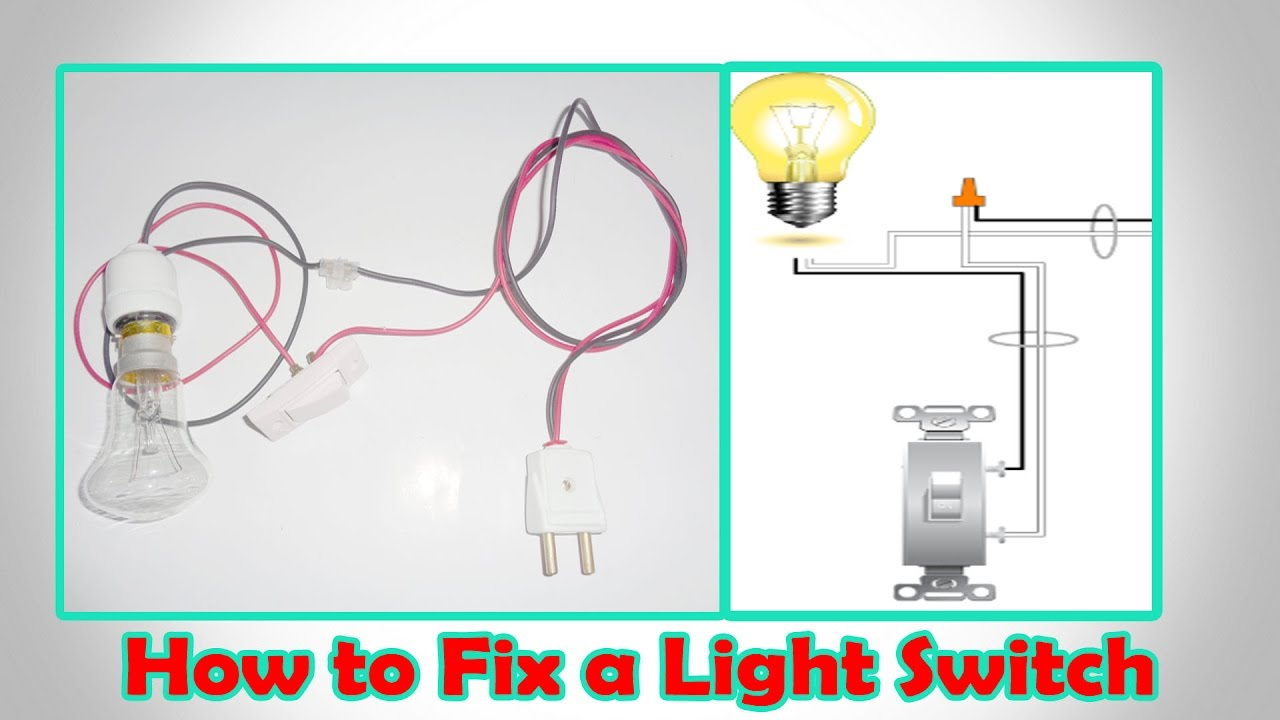 How To Fix A Light Switch Light Switch Wiring Youtube