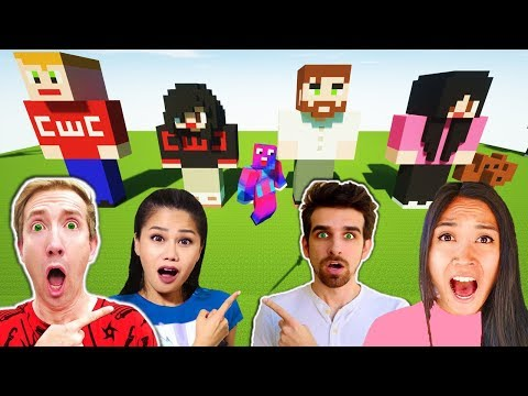 Make GIANT CWC Spy Ninjas In Minecraft - Chad Wild Clay, Vy Qwaint, Daniel and Regina