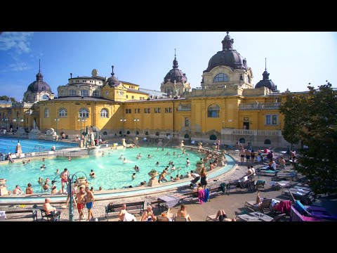 Visit the Széchenyi Spa in Budapest, Hungary