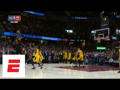 Full sequence: LeBron James blocks Victor Oladipo, hits game-winning 3 in Game 5 vs. Pacers | ESPN