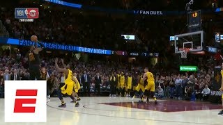 Get Screenshots for video :: Full sequence: LeBron James blocks Victor Oladipo, hits game-winning 3 in Game 5 vs. Pacers | ESPN