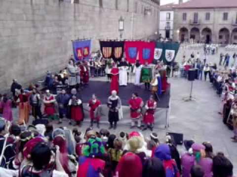 Feira Medieval, Santiago de Compostela, Coroación do infante Alfonso Raimúndez como rei de Galicia