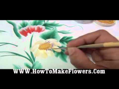 COM Teach How To Paint Different Types Of Flowers