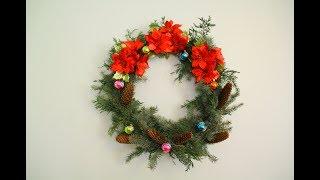 Amazing Flowers DIY Christmas Wreath