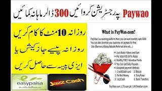 How To Earn 400$ Per Month With PayWao Website | Withdraw Proof | Complete Course in hind