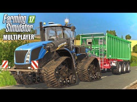 DRIVING THE T9! | Multiplayer Coldborough Park Farm