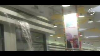 Sistema frontal provocó filtraciones de agua en mall de Coronel - CHV NOTICIAS