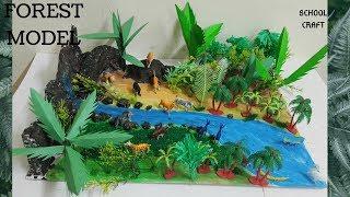 Forest model| Jungle scene| Animal world project| School Craft|