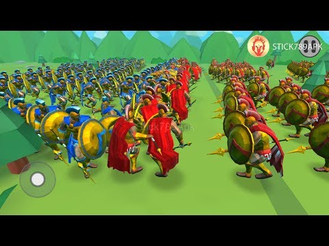💗 240 SPARTAN VS SPARTAN PASSED LEVEL 59 - 63 | Epic Battle Simulator 2 | Mod Android Gameplay #FHD