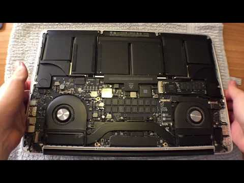 """How to clean the fans of MacBook Pro Retina Display Late 2013 15"""" - Easy and Safe"""