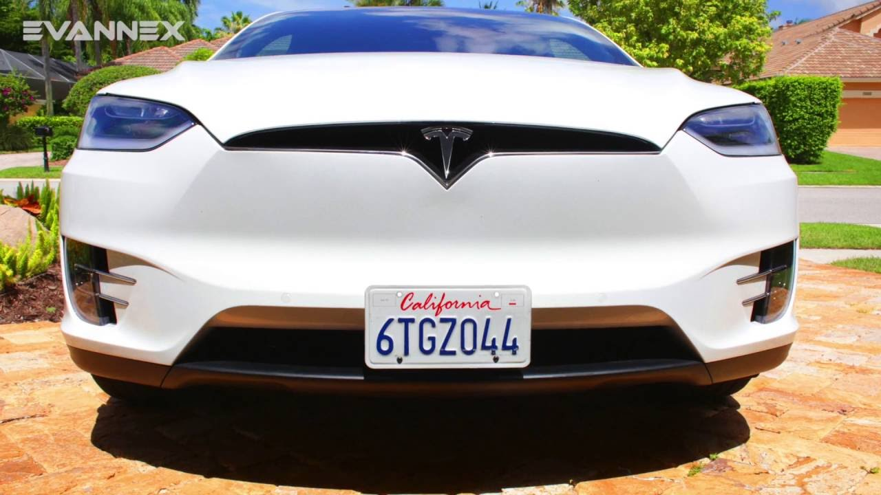 THE LAW TESLA MODEL X FRONT LICENSE PLATE BRACKET INSTALLATION - YouTube