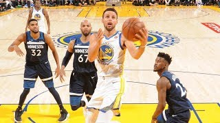 warriors dominate wolves without durant score 44 in 3rd 2017 18 season