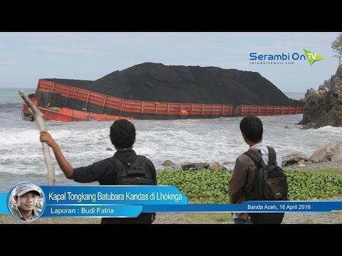 Kapal Tongkang Batubara Kandas di Lhoknga