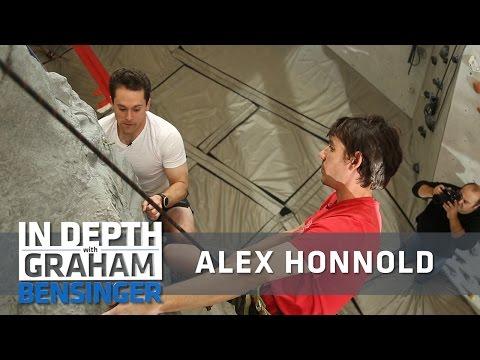 Alex Honnold teaches TV host how to climb