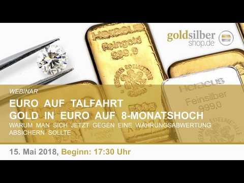 Euro auf Talfahrt - Gold in Euro auf 8-Monatshoch - Webinar mit M. Blaschzok (15.05.2018)