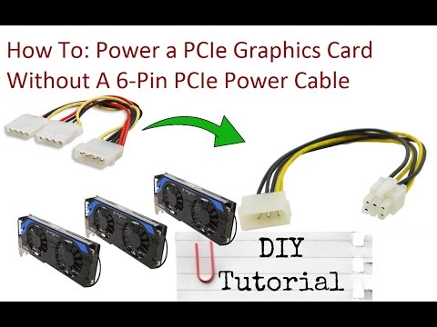 how to: connecting a pcie gpu without a 6-pin power cable video tutorial