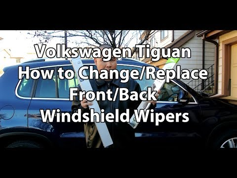 VW/Volkswagen Tiguan How to Change/Replace Front/Rear Windshield Wiper Blades