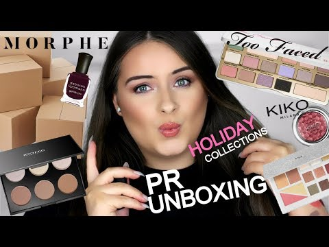 HUGE PR HAUL! HOLIDAY COLLECTIONS & MORE 2017