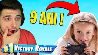I played FORTNITE with a 9-year-old GIRL and gave her the GIFT!