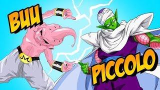 How to Draw Majin Buu + Piccolo Fusion | ART CHALLENGE